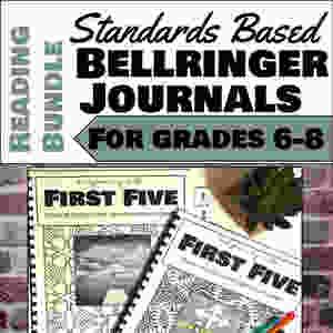 Standards Based Bellringer Journals for Grades 6-8 ELA