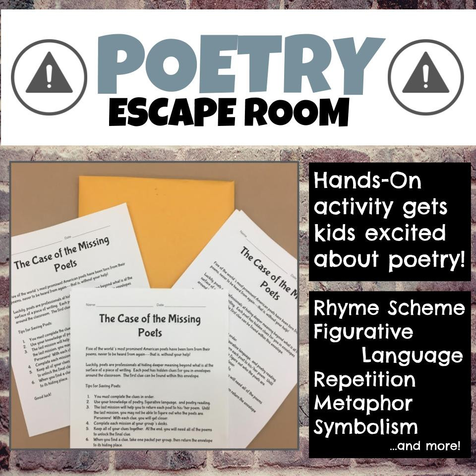 New Escape Room for Poetry!