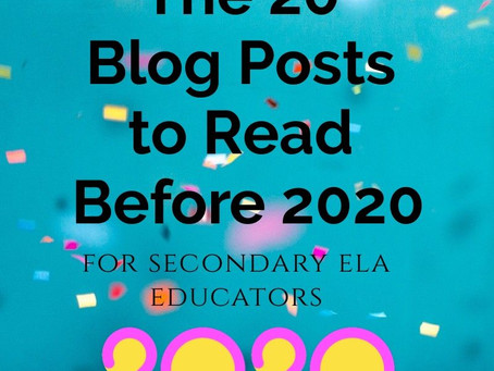 20 Blog Posts to Read Before 2020
