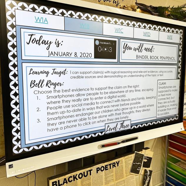 Standards Based Bell Ringers