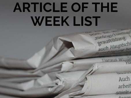 The Ultimate Article of the Week List for Secondary Teachers
