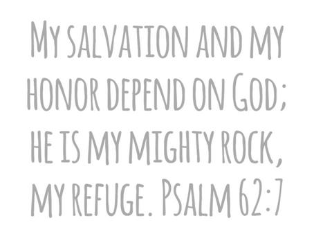 Dependent on God