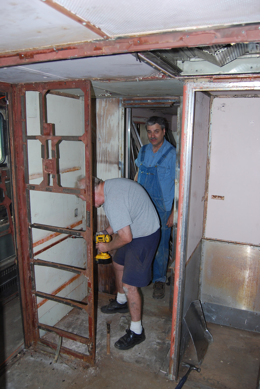 Former storage locker, soon to be new bathroom