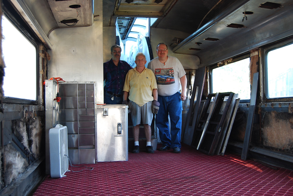 Gerald, Mike, And Jim, The restoration crew for the Silver View.