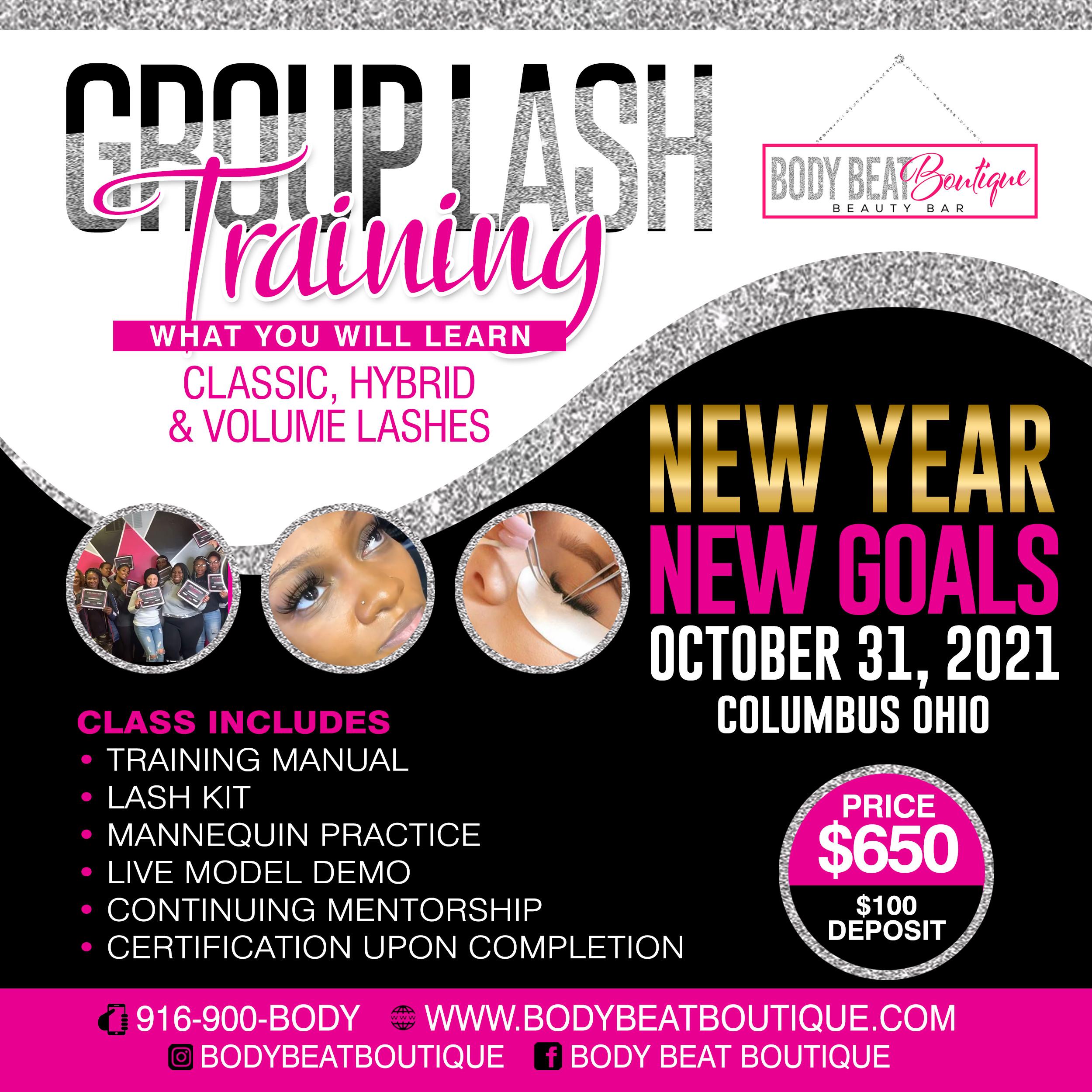 Group Lash Class October 31, 2021