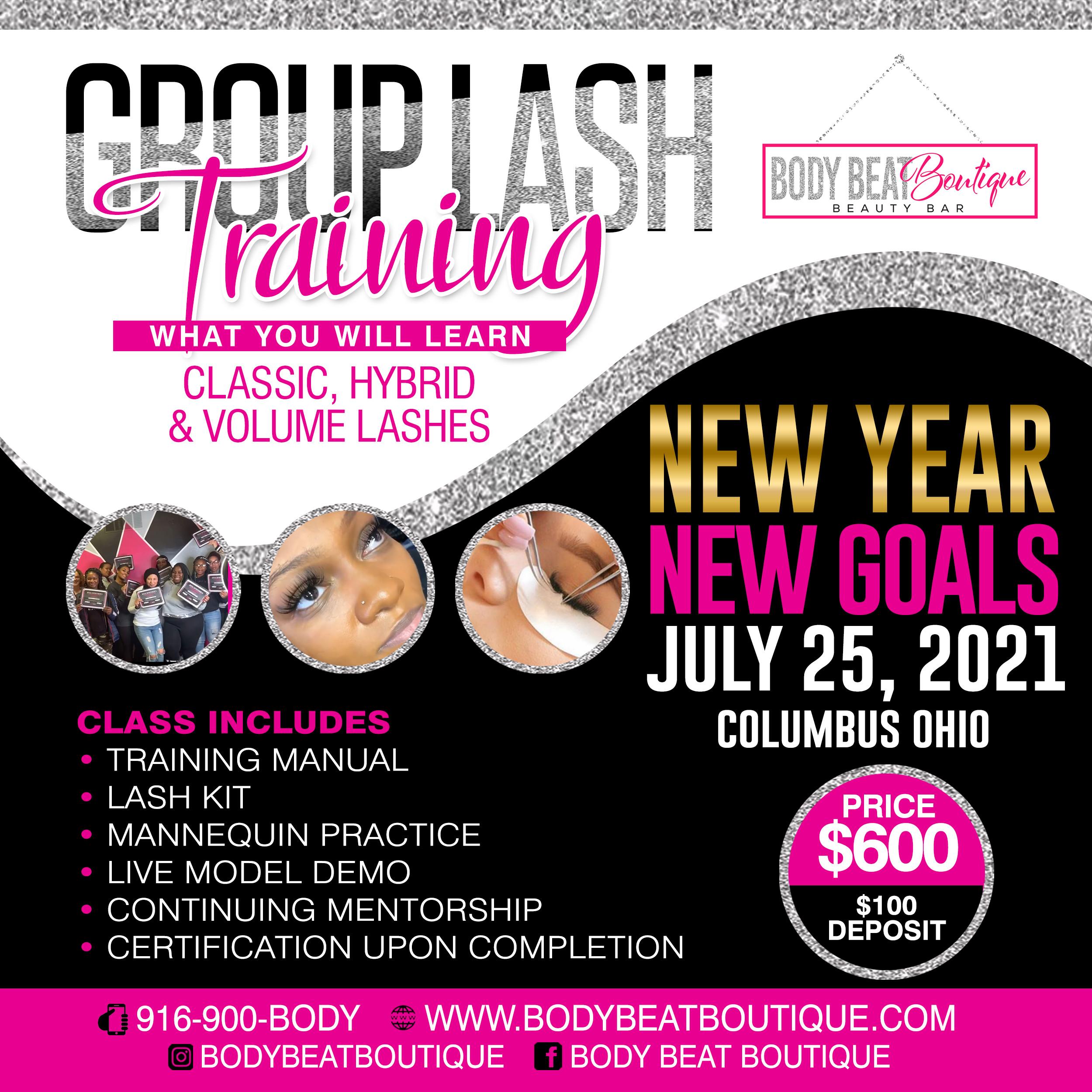 Group Lash Class July 25, 2021