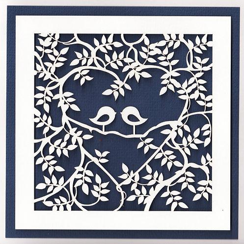 Birds in a heart Card