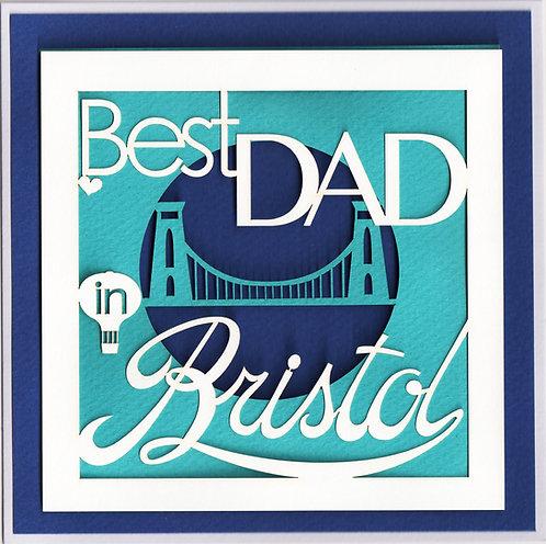 Best Dad in Bristol Card