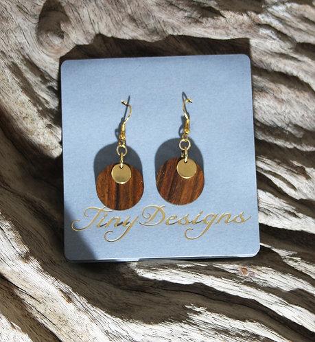 Dark Wood Ear-rings