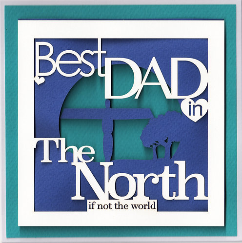 Best Dad in the North Card