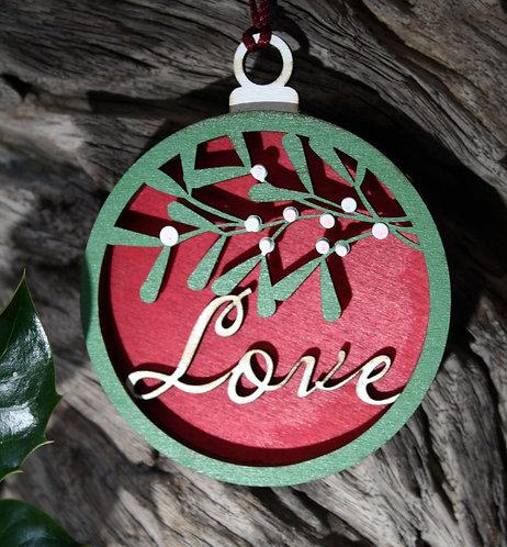 Wooden Tree Decoration: Love