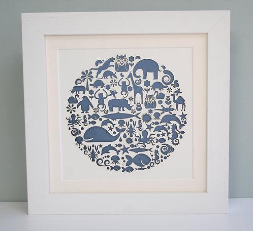 Animal Circle Paper Cut
