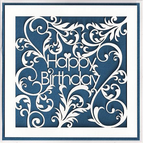 Swirls Birthday Card