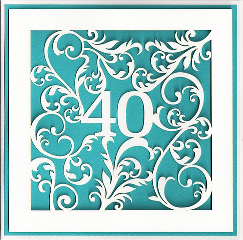 Age 40 Card