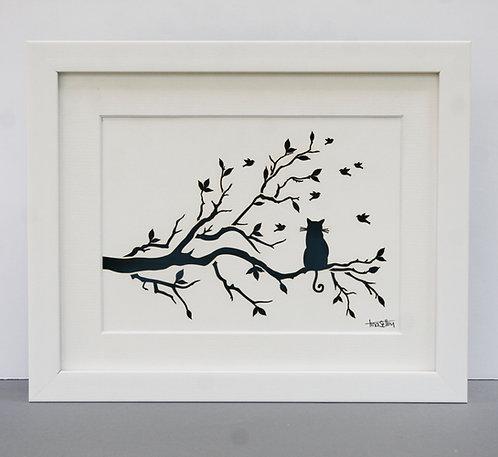 Cat on Branch