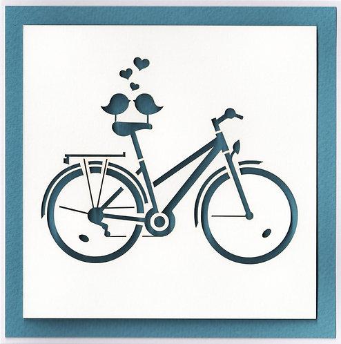 Birds on Bike Card