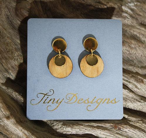 Light Wood Ear-rings