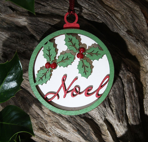 Wooden Tree Decoration:Noel