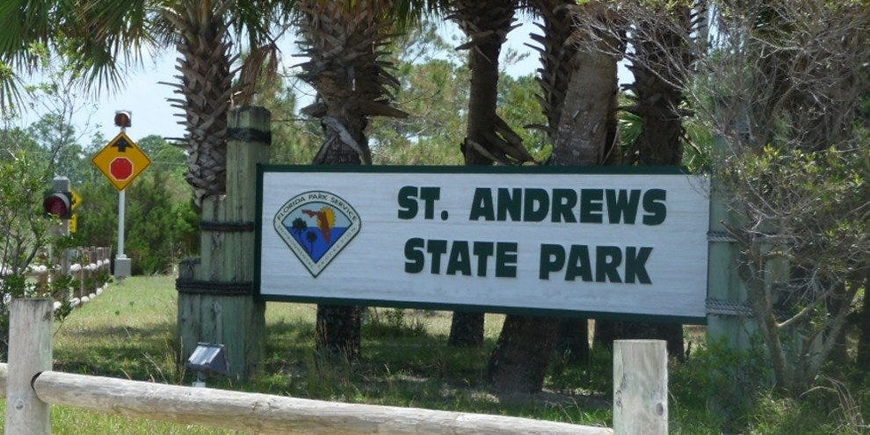 Beach cleanup at St. Andrews State Park