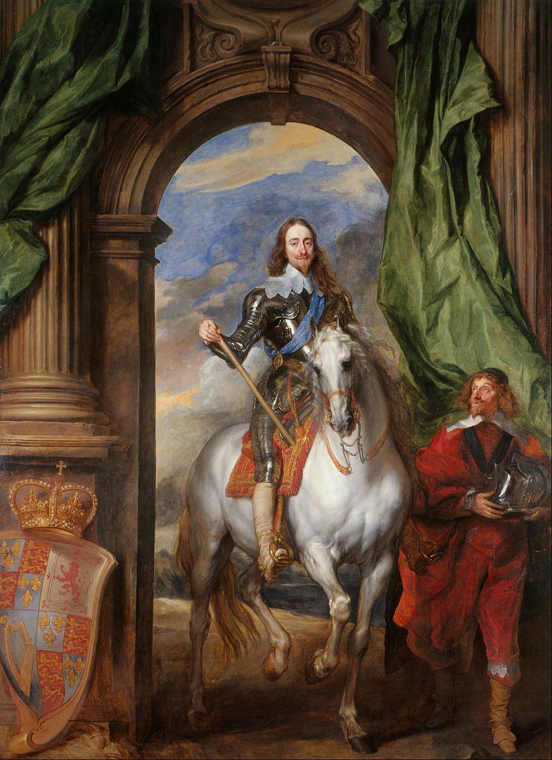 Charles I on Horseback with M. de St Antoine - Sir Anthony van Dyck (1633)