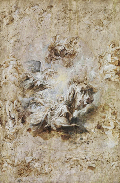 The Apotheosis of James I and Ohter Studies - Peter Paul Rubens (c.1630)
