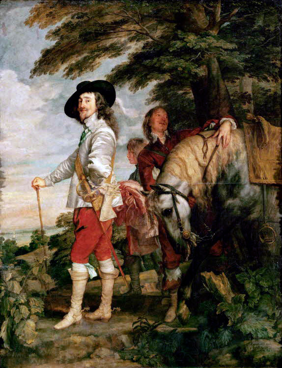 Charles I at the Hunt - Sir Anthony van Dyck (c. 1635)