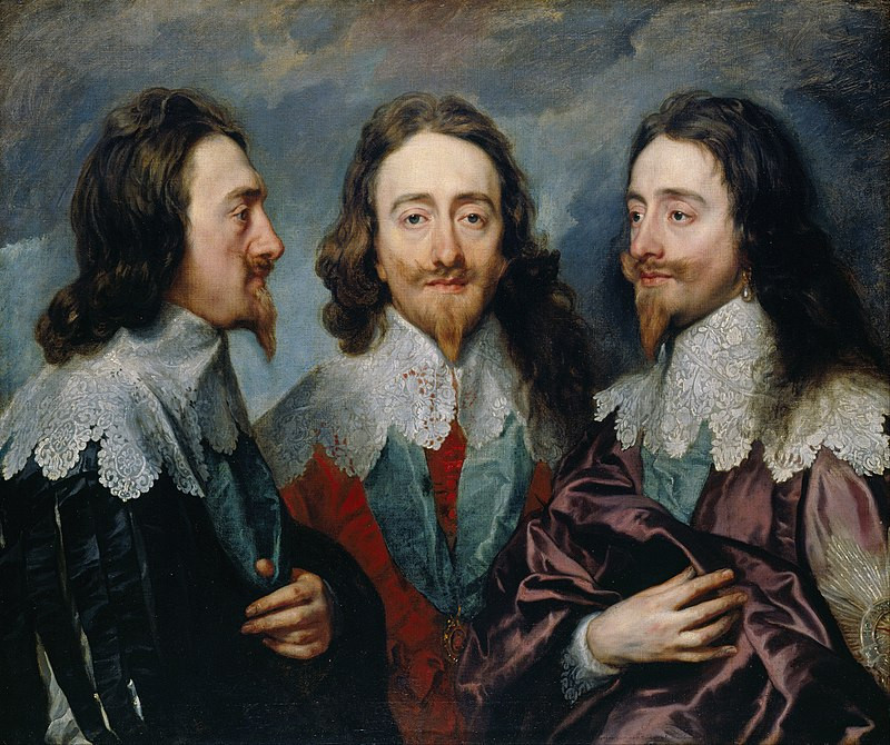 Charles I in Three Positions - Anthony van Dyck c. 1635