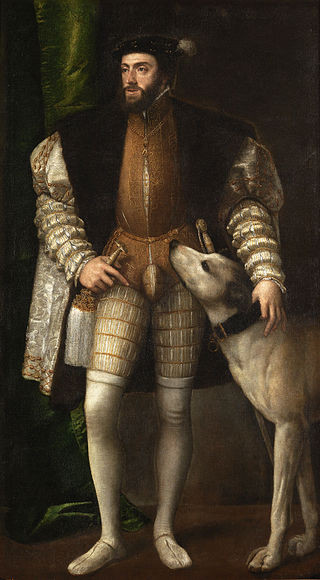 Charles V with a Dog - Titian (1532)
