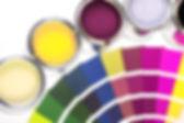 Farbkessel und Farbkarte