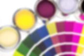 Farbtöpfe und Farbrad