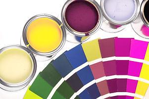 เพ้นท์กระถางและวงล้อสี