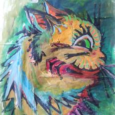 Design for cat mosaic, Eartha