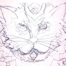 Sketch For Louis, Cat Mosaic