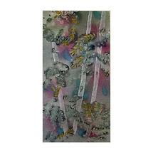 Birches Acrylic Mixed Media 10x20