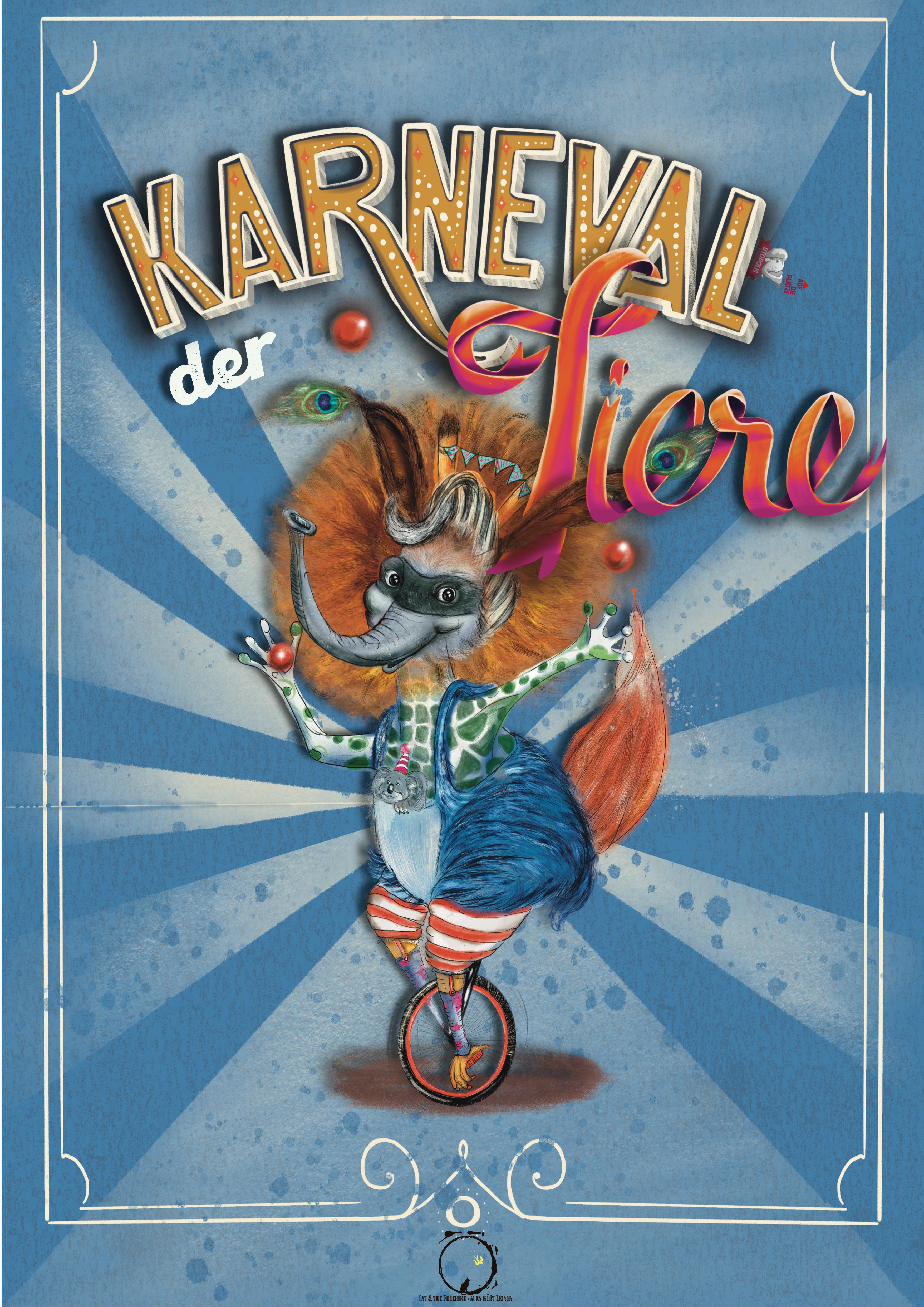 Plakat für Karneval der Tiere