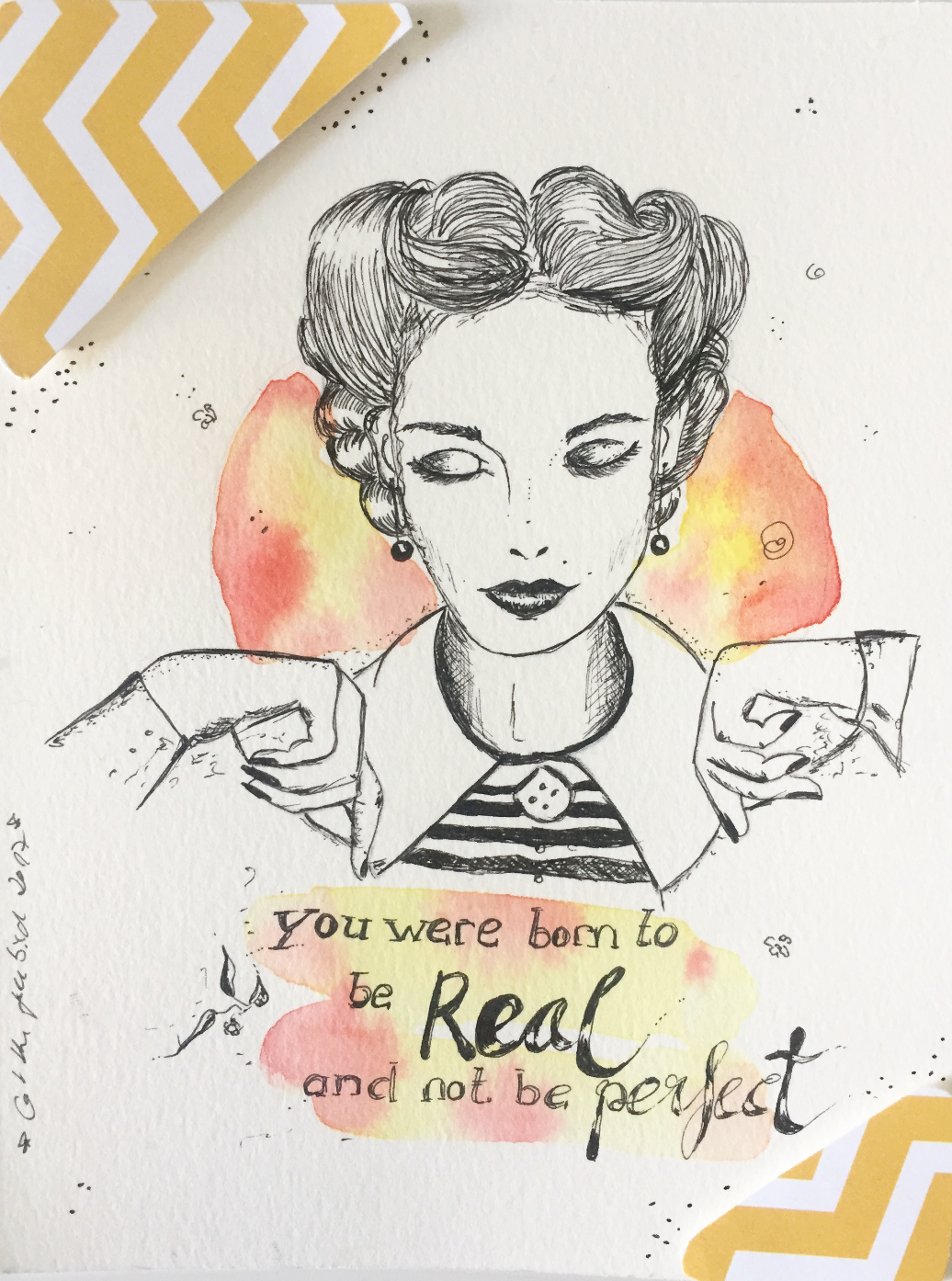 You were born to be real, not to be