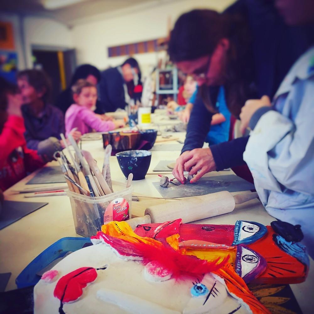 Maskenspiel  in der #Jugendkunstschule
