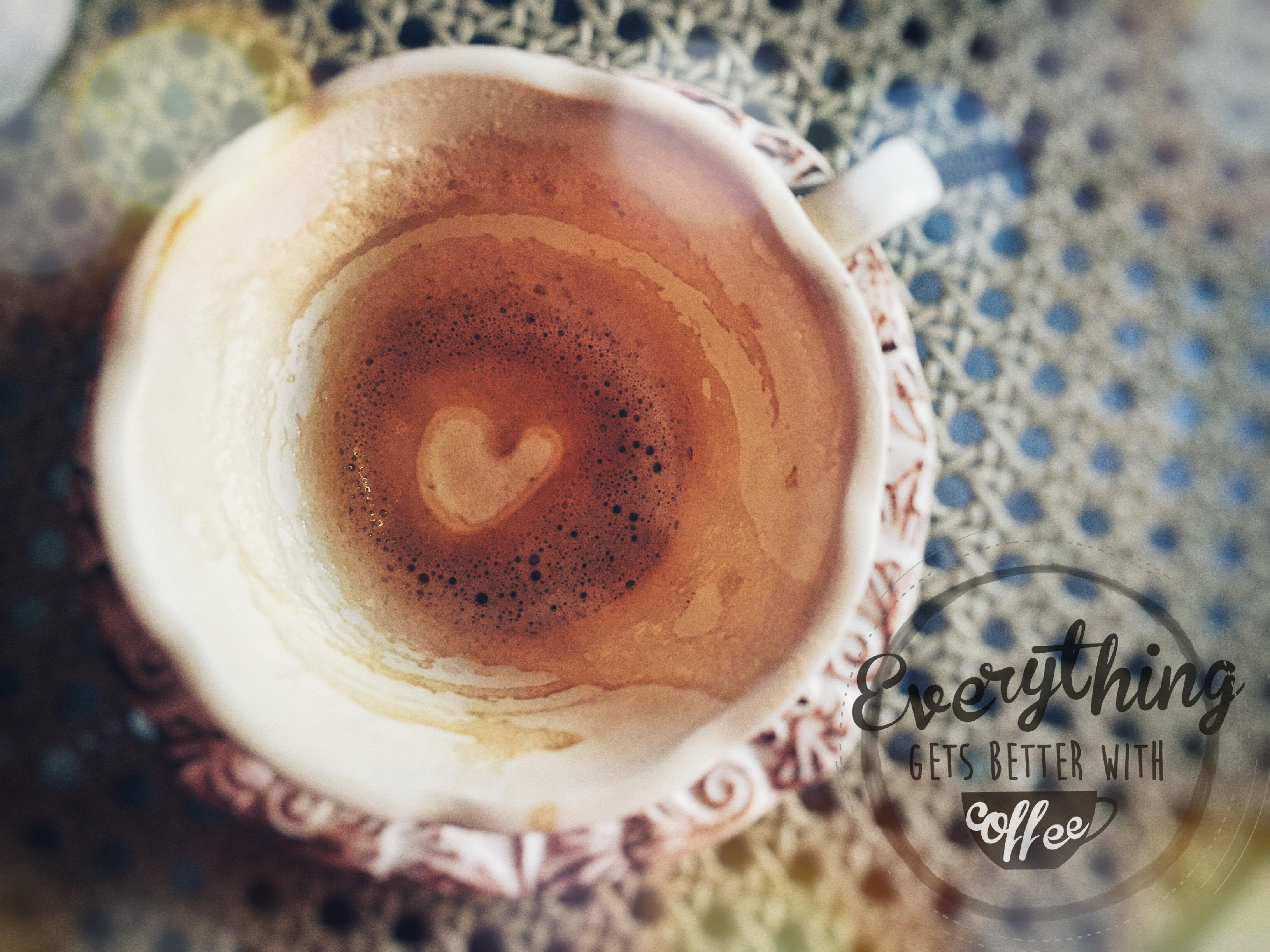 Alles geht besser mit Kaffee
