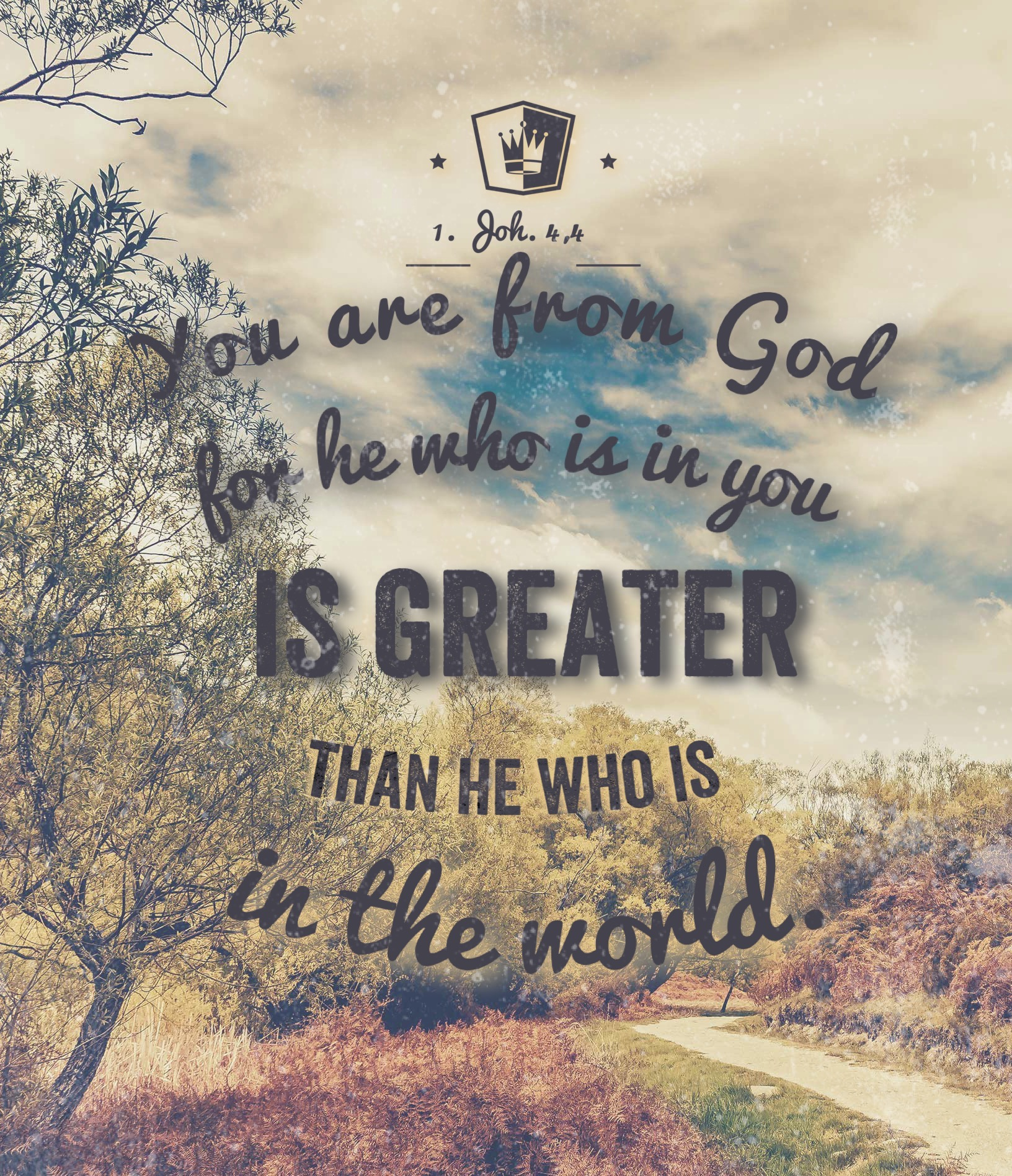 He is Greater, than he who is