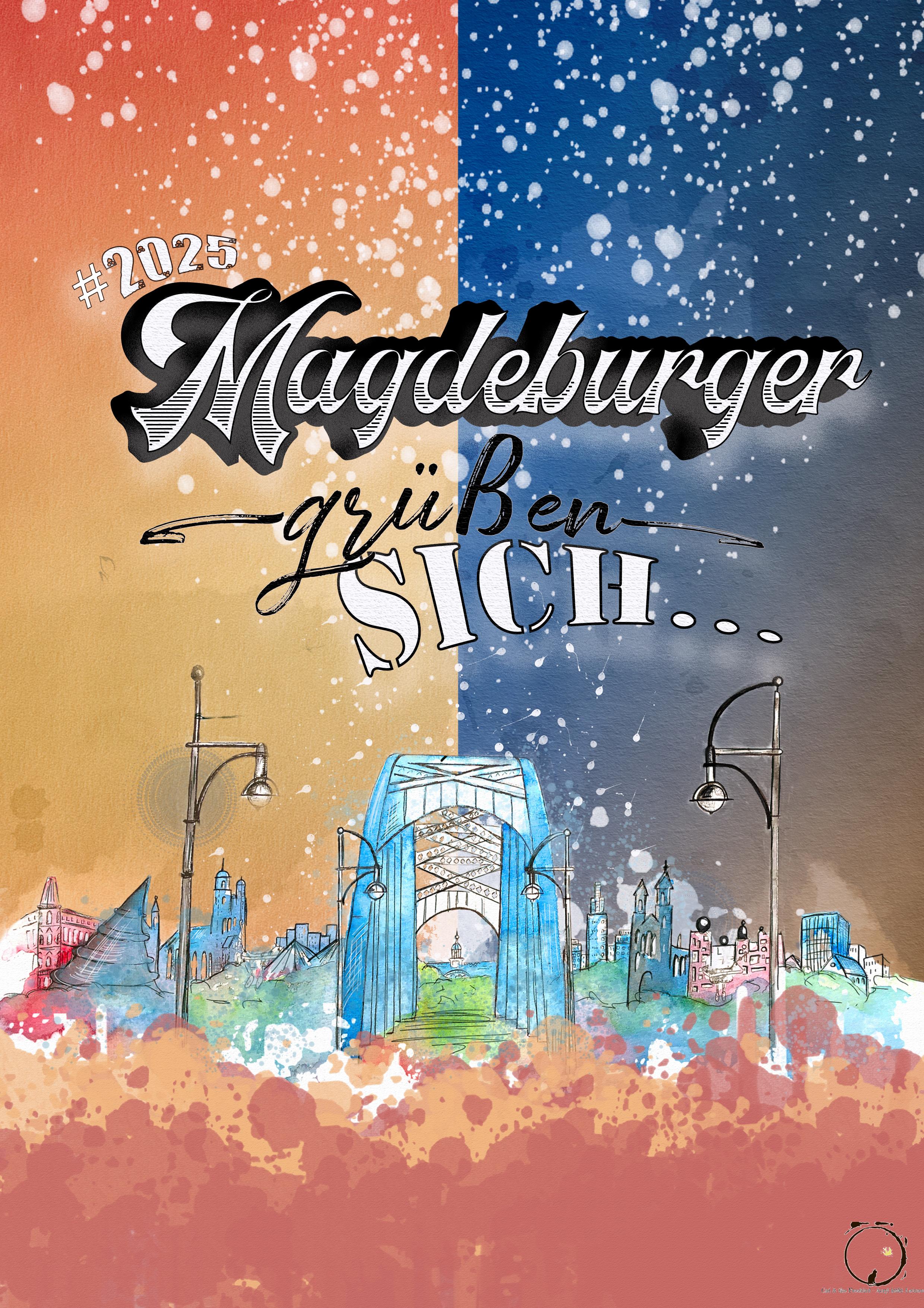 Magdeburger grüßen sich