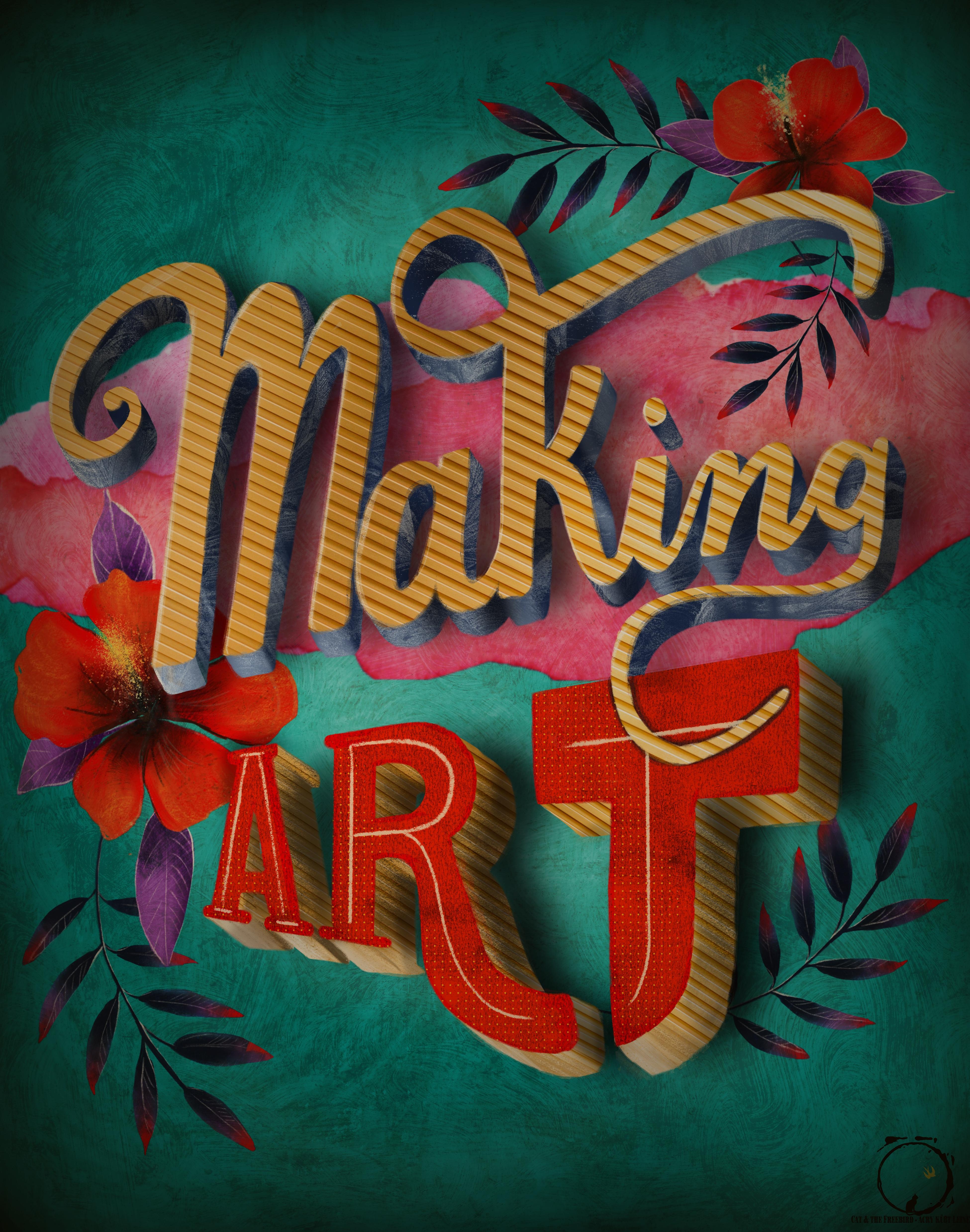 Making Art Illustration _ Lettering