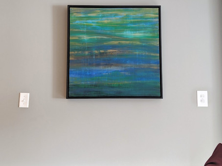 Contemplation Finds a New Home: The journey of a painting and artist and a first time collector.