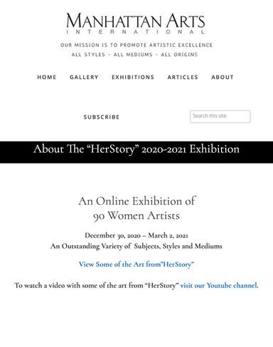 HerStory 2020-2021 Exhibition - Manhattan Arts International