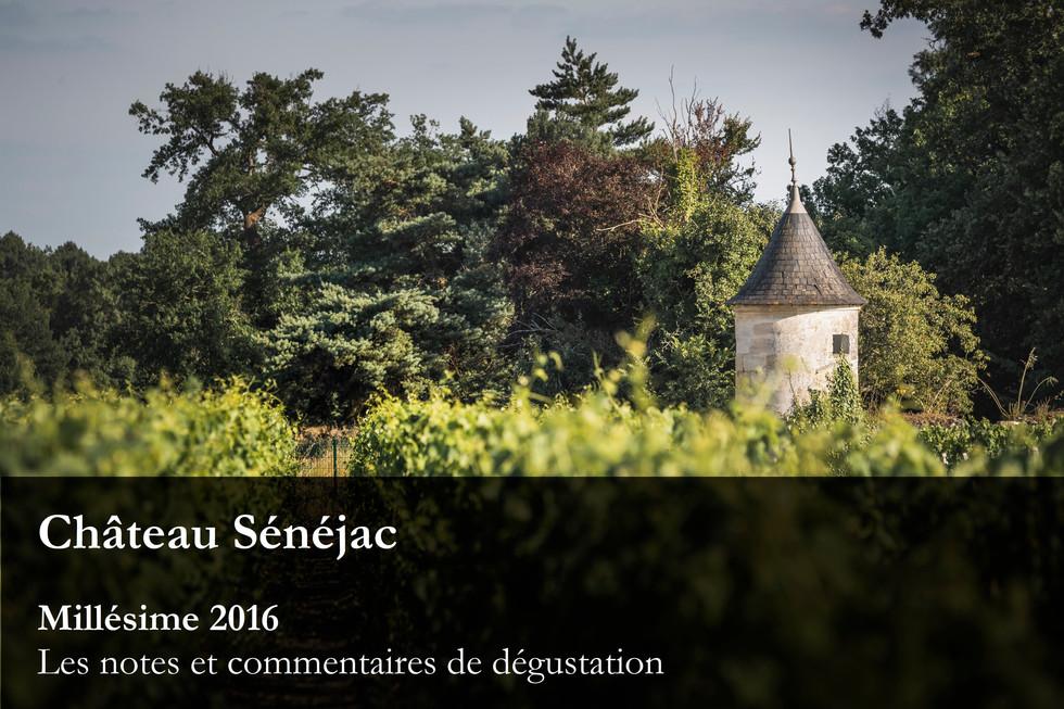Château Sénéjac Millésime 2016 - Toutes les notes