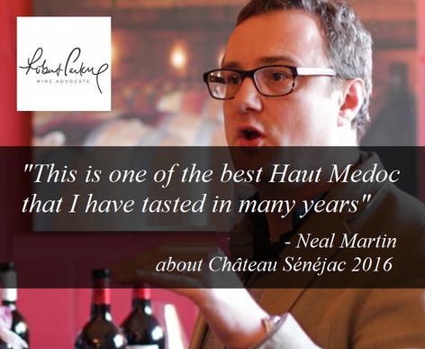 Neal Martin a un petit faible pour le Château Sénéjac 2016