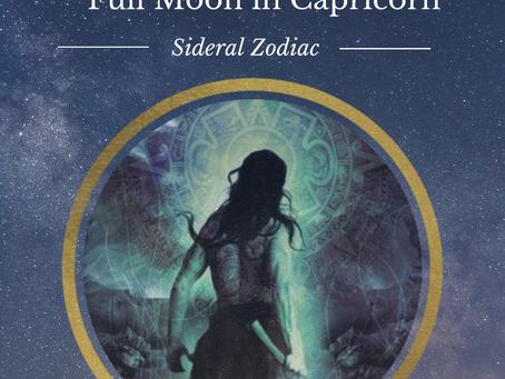 Full Moon in Aquarius - Sidereal Zodiac