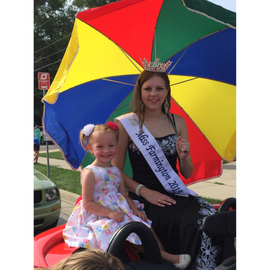 Riding with my Sponsor's granddaughter Reese in the Founders Festival Parade