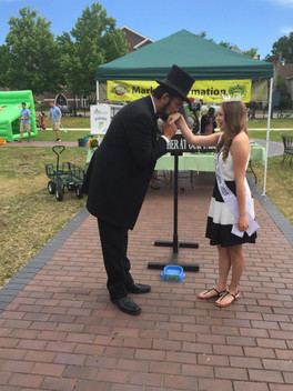 Meeting a blast from the past Abe Lincoln at the Market