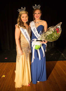With Miss Farmington 2014 after being crowned. Photo by Craigfilms