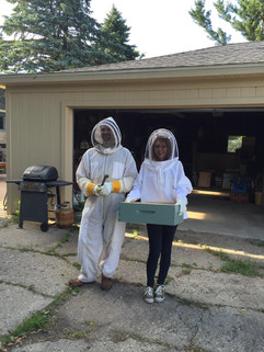 Visiting Spencer Apiaries to learn more about our sweet pollinator friends the bees